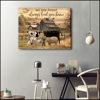 Omegaspeaker-Farm-May Your Journey Canvas Wall Art/ Decor/ Gift-Love Farm