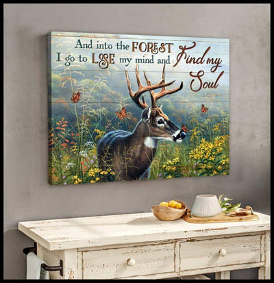Omegaspeaker Gorgeous Deer Find My Soul Canvas Wall Art/ Decor/ Gift