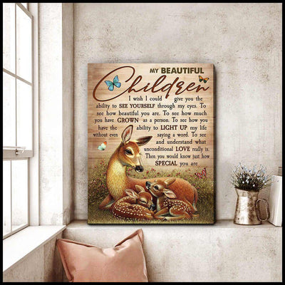 Omegaspeaker Top 10 Beautiful Deer My Beautiful Children Canvas Wall Art/ Decor/ Gift