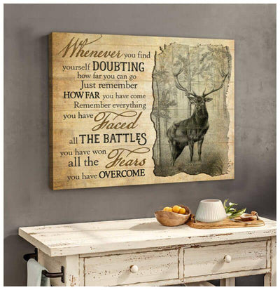 Omegaspeaker Doubting Deer Canvas Wall Art/ Decor/ Gift