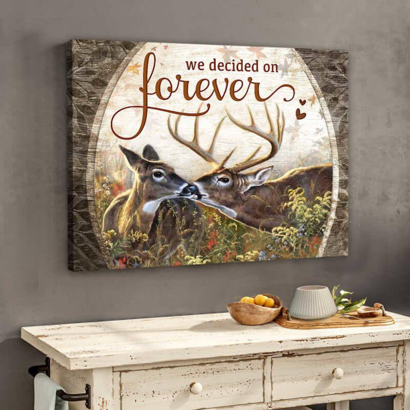 Omegaspeaker-We Decided On Forever Husband and Wife Wall Art/ Decor/ Gift-Love Buck