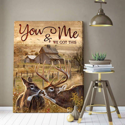 Omegaspeaker-Buck and Doe-You and Me Canvas Wall Art/ Decor/ Gift-Love Buck