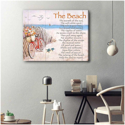 Omegaspeaker - Turtle Christmas Gift Idea- The Beach Canvas Wall Art/ Decor/ Gift-Love Butterfly
