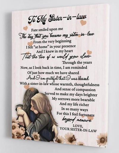 Omegaspeaker-To My Sister-in-law-Framed Canvas WALL ART/ DECOR/ GIFT