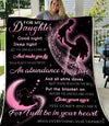 Omegaspeaker-Blanket-Christmas Gift Idea-to my Daughter - I will be in your heart