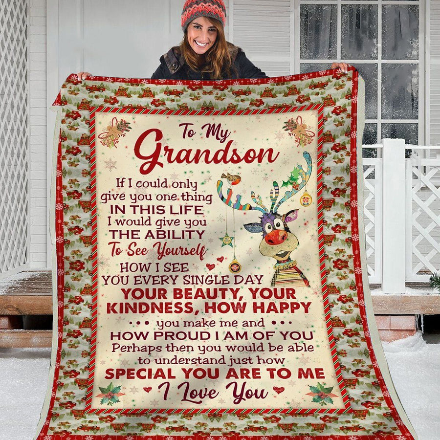 Omegaspeaker-Christmas Gift Idea-Blanket-Grandson-Your Beauty, Your Kindness