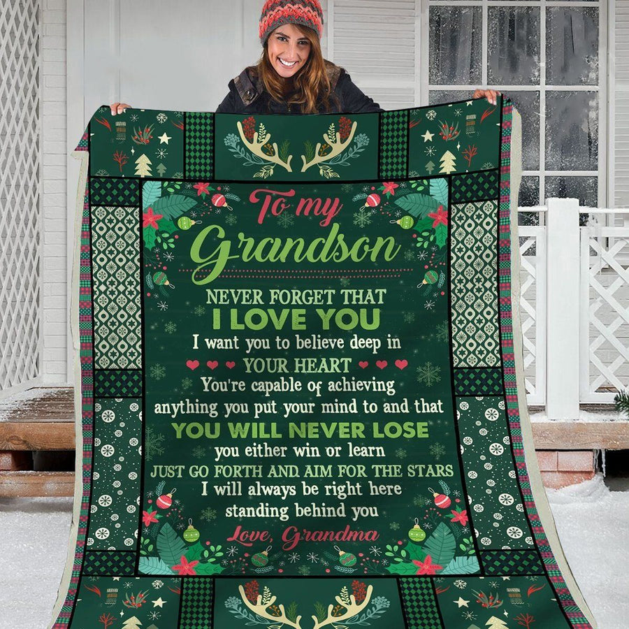 Omegaspeaker-Christmas Gift Idea-Blanket-Grandson-You Will Never Lose