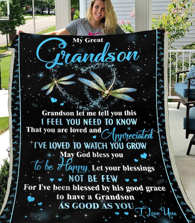 Omegaspeaker-Blanket-Grandson-Love, My Great Grandson-Love You