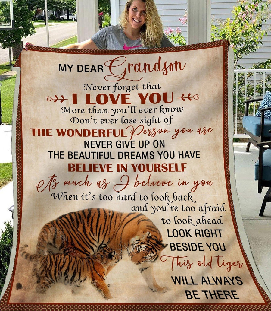 Omegaspeaker-Christmas Gift Idea-Blanket-Grandson-Tiger