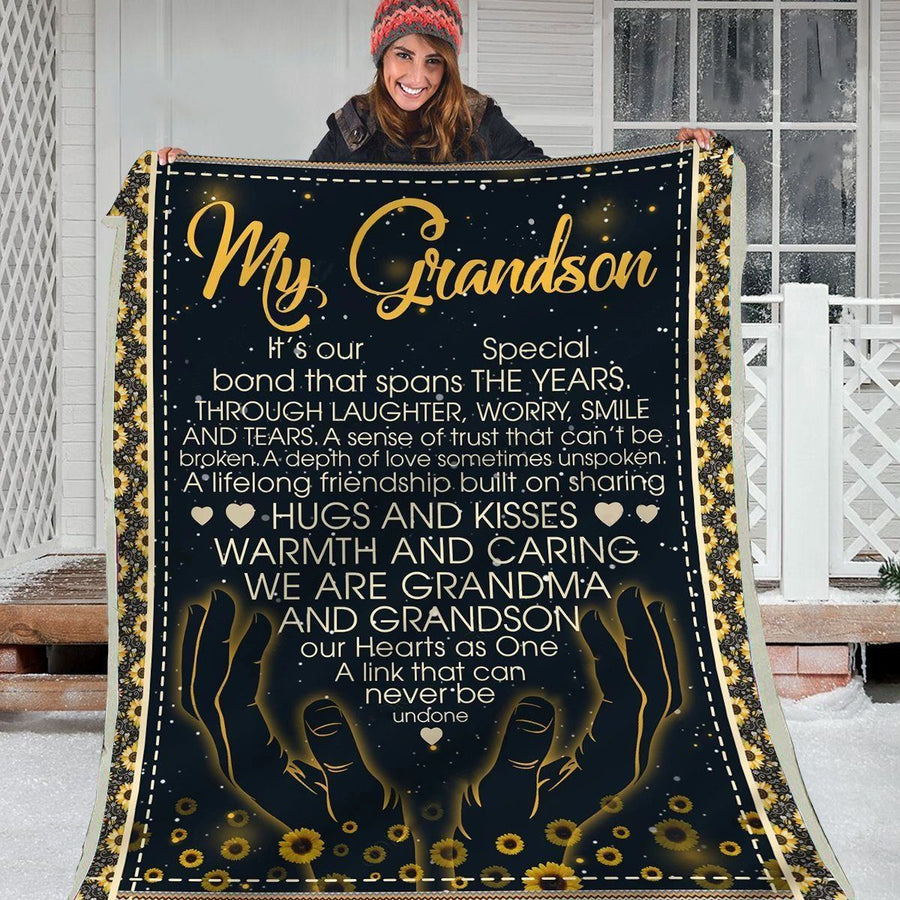 Omegaspeaker-Christmas Gift Idea-Blanket-Grandson-Our Special Bond