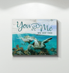 Omegaspeaker-Canvas-Turtle-You&Me We Got THis Wall Art/ Decor/ Gift-Love Turtle