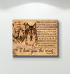Omegaspeaker-Canvas-Bear&Wolf I Love You The Most Wall Art/ Decor/ Gift-Love Bear