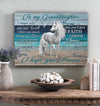 Omegaspeaker-Unicorn- To My Granddaughter Canvas Wall Art/ Decor/ Gift-Love You