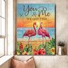 Omegaspeaker- Canvas-Flamingo Beach You & Me We Got This Wall Art/ Decor/ Gift-Love Flamingo