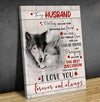 Omegaspeaker- Canvas- Wolf- To My Husband Gifl For Him Meeting You Was Fate Wall Art/ Decor/ Gift-Love Wolf