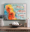 Omegaspeaker- Be Joyful In Hope Patient In Affliction Faithful In Prayer Canvas Wall Art/ Decor/ Gift-Love Horse