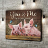 Omegaspeaker - Canvas - Pig - You & Me We Got This Wall Art/ Decor/ Gift-Love You