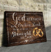 Omegaspeaker - Canvas - God Blessed The Broken Road Wall Art/ Decor/ Gift-In God We Trust