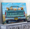 Omegaspeaker - Canvas - Yorkshire - Choose Joy Wall Art/ Decor/ Gift-Love Yorkshire