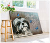 Omegaspeaker - Canvas - Shih Tzu ( Black And White ) - Be Still Wall Art/ Decor/ Gift-Love shih-tzu