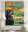 Omegaspeaker - Canvas - Schnauzer - I'll Be Watching You Wall Art/ Decor/ Gift-Love Schnauzer