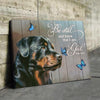 Omegaspeaker - Canvas - Rottweiler - Be Still Wall Art/ Decor/ Gift-Love Rottweiler