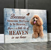 Omegaspeaker - Canvas - Poodle - because Someone We Love is In Heaven Wall Art/ Decor/ Gift-Love Poodle