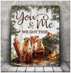 Omegaspeaker - Canvas - Golden Retriever - You & Me Wall Art/ Decor/ Gift-Love Golden Retriever