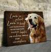 Omegaspeaker - Canvas - Golden Retriever - Love Is Patient Wall Art/ Decor/ Gift-Love Golden Retriever
