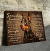Omegaspeaker - Canvas - Doberman - Someday Wall Art/ Decor/ Gift-Love Doberman