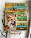 Omegaspeaker - Canvas - Corgi - I'll Be Watching You Wall Art/ Decor/ Gift-Love Corgi