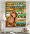 Omegaspeaker - Canvas - Cocker Spaniel - I'll Be Watching You Wall Art/ Decor/ Gift-Love Cocker