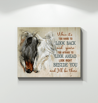 Omegaspeaker - Canvas - Horse - When It's Too Hard To Look Back Wall Art/ Decor/ Gift-Love Horse