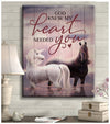 Omegaspeaker - Canvas - Horse - God Knew My Heart Wall Art/ Decor/ Gift-Love Horse