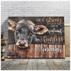 Omegaspeaker - CANVAS - Cow - She Is Enough Wall Art/ Decor/ Gift-Love Cow