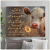 Omegaspeaker - CANVAS - Cow - She Is Clothed Wall Art/ Decor/ Gift-Love Cow