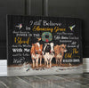 Omegaspeaker - CANVAS - Cow - I Still Believe In Amazing Grace Wall Art/ Decor/ Gift-Love Cow