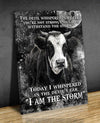 Omegaspeaker - CANVAS - Cow - I Am The Storm Wall Art/ Decor/ Gift-Love Cow