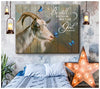 Omegaspeaker - CANVAS - Goat - Be Still - Wall Art/ Decor/ Gift