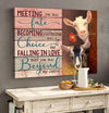 Omegaspeaker - CANVAS - Goat - Meeting And Falling In Love - Wall Art/ Decor/ Gift-Love You