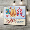 Omegaspeaker - CANVAS - Together Is Our Favorite Place To Be - Wall Art/ Decor/ Gift