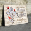 Omegaspeaker - CANVAS - I Can Do All Things Through Christ - Wall Art/ Decor/ Gift-Be Strong