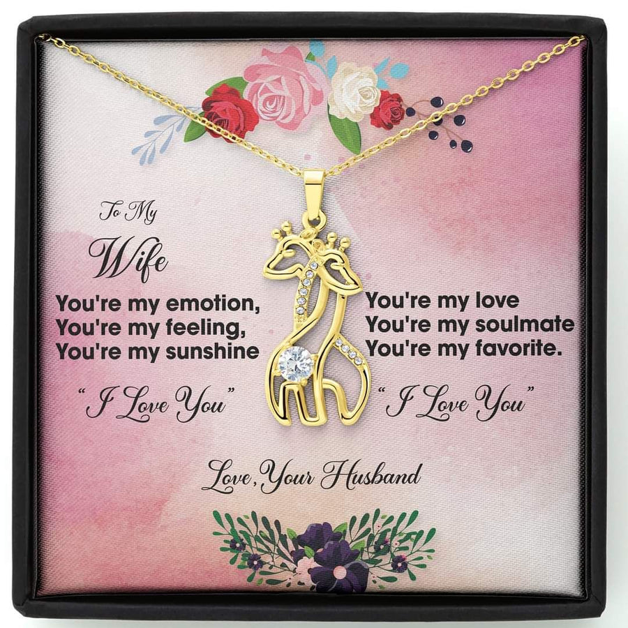 Omegaspeaker-Christmas Gift Idea-Jewelry-I Love You , Love Your Husband-Gift To Wife