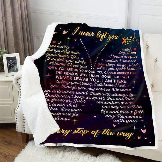 Omegaspeaker-Grandmother Grandfather I Never Left You Every Step Of The Way - Fleece Blanket