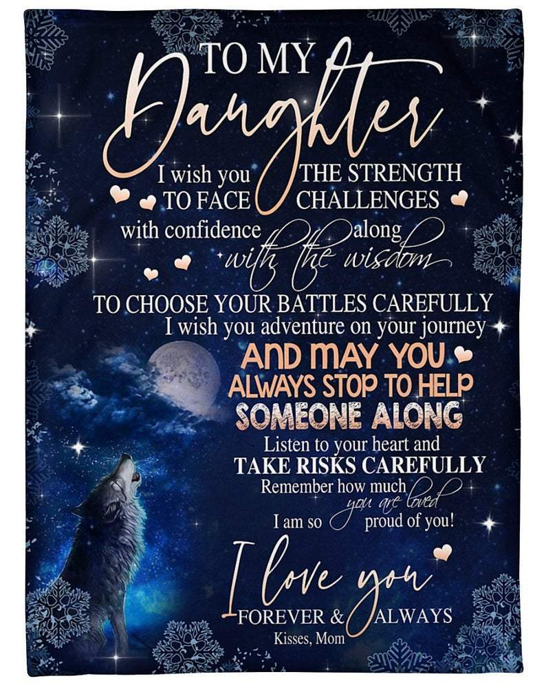Omegaspeaker-Fleece Blankets - Christmas Birthday Gifts For Daughter - I wish you the strength