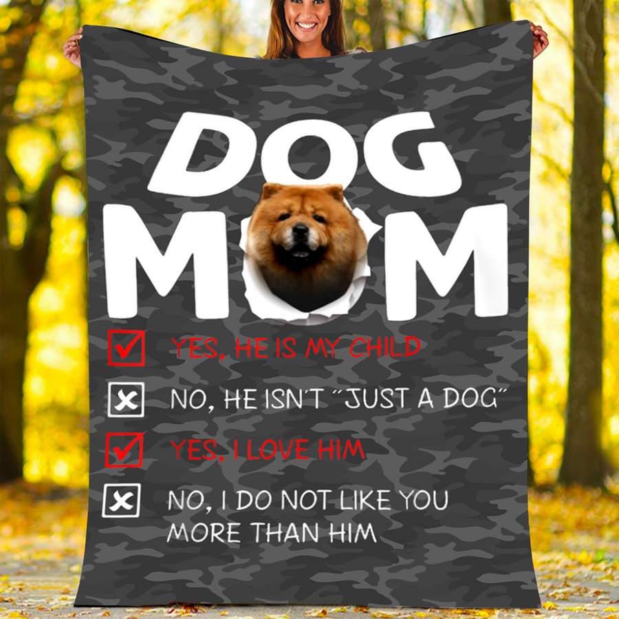 Omegaspeaker-BLANKET Chow-Chow DOG MOM BLANKET - FLEECE BLANKET