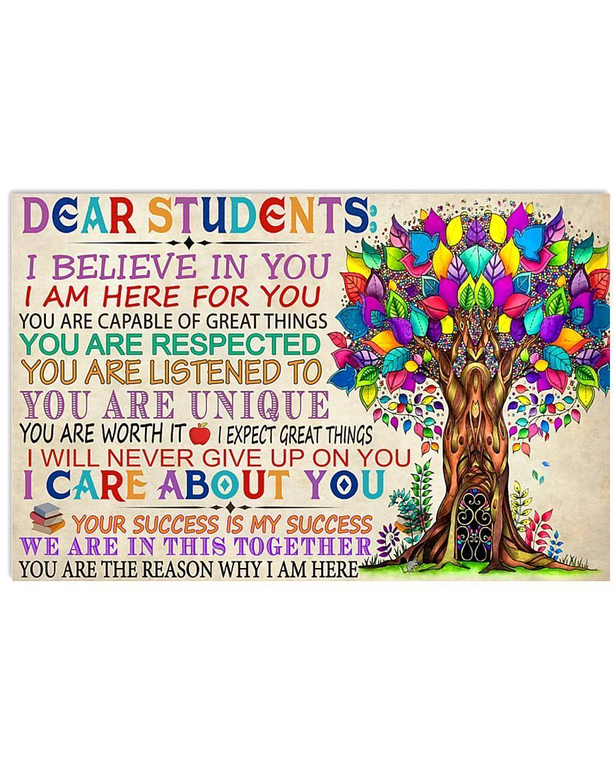 Omegaspeaker -Teacher Dear Students Wall Art Canvas  - Back to school canvas -You are the reason why I am here