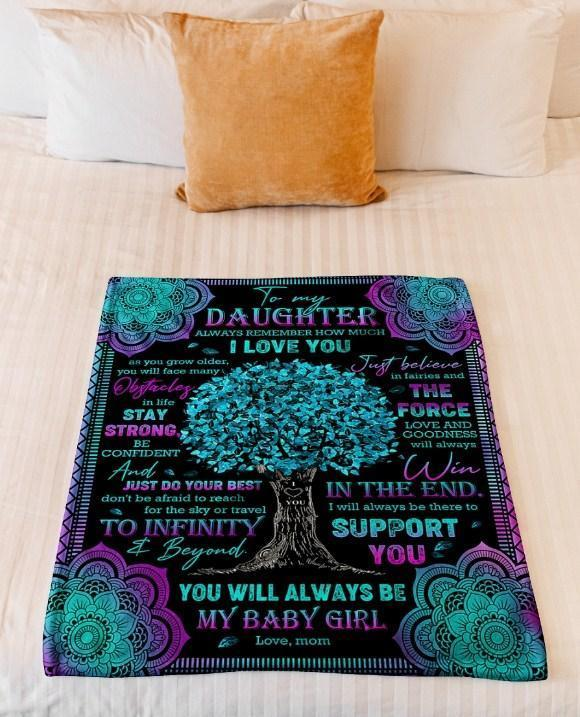 Omegaspeaker-Fleece Blanket -  To my daughter Always remember how much I love you