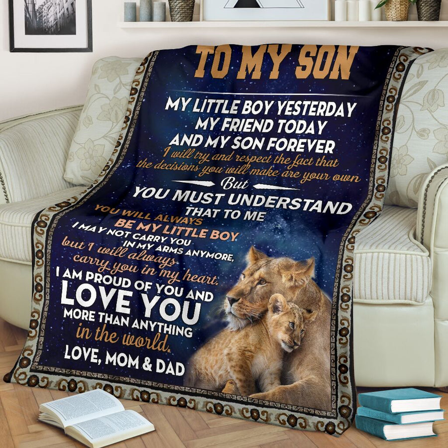Omegaspeaker-To My Son - I Love You Blanket  - Gift for Birthday