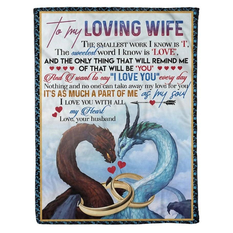 Omegaspeaker-Fleece Blanket - Dragon Couple Blanket - To my wife - Birthday gift Christmas gift